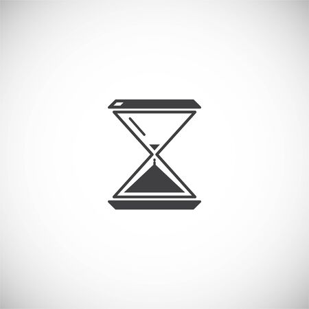 Sand watch related icon on background for graphic and web design. Creative illustration concept symbol for web or mobile app.