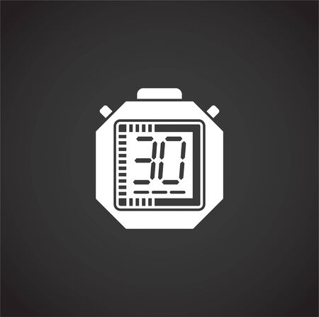 Stopwatch related icon on background for graphic and web design. Creative illustration concept symbol for web or mobile app.