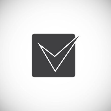 Check box icon on background for graphic and web design. Creative illustration concept symbol for web or mobile app.
