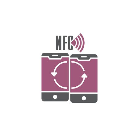 NFC related icon on background for graphic and web design. Creative illustration concept symbol for web or mobile app.