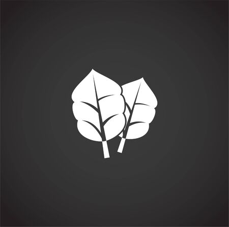 Leaf related icon on background for graphic and web design. Creative illustration concept symbol for web or mobile app.