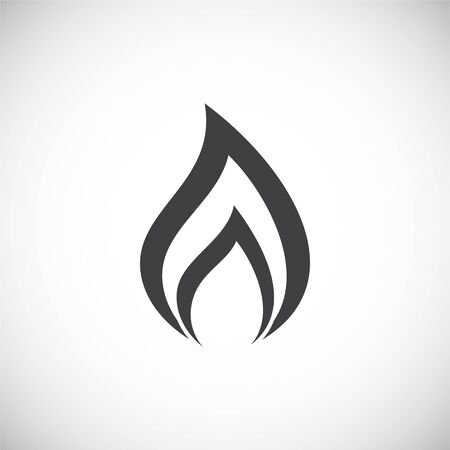 Fire related icon on background for graphic and web design. Creative illustration concept symbol for web or mobile app. 向量圖像