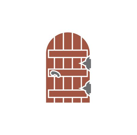 Door icon on background for graphic and web design. Creative illustration concept symbol for web or mobile app. 向量圖像