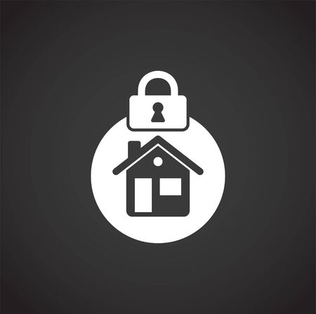 Smart security related icon on background for graphic and web design. Creative illustration concept symbol for web or mobile app.