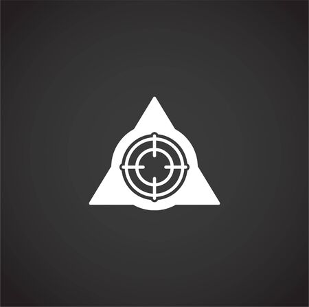 Aim related icon on background for graphic and web design. Creative illustration concept symbol for web or mobile app.