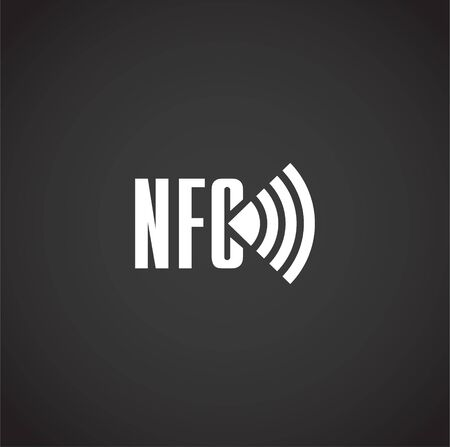 NFC related icon on background for graphic and web design. Creative illustration concept symbol for web or mobile app