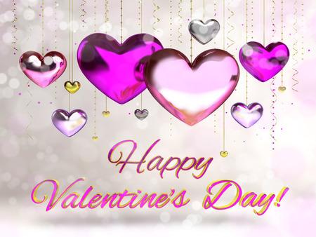 valentin: card heart valentin day Stock Photo
