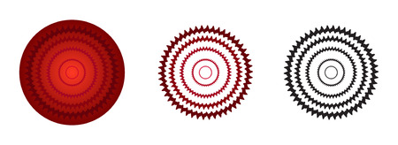 rosette: red color rosette gradient