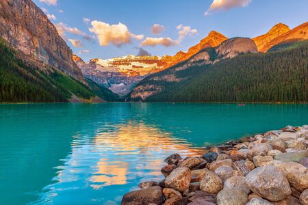 Lake Louise at sunset.Banff National Park. Alberta. Canada