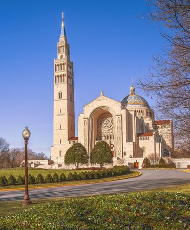 Basilica of the National Shrine of the Immaculate Conception. Washington, D.C. USA 写真素材