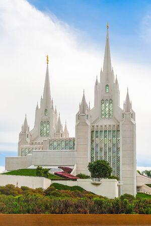 San Diego Temple. La Jolla community. California. USA Stock Photo