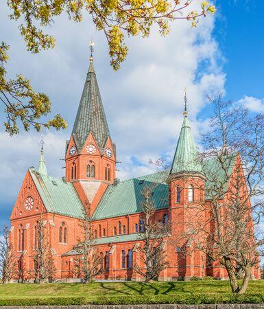 View of St Peter church in Vastervik. Kalmar County. Sweden