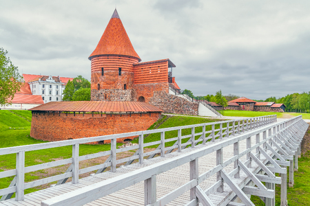 Gothic Kaunas Castle in the second-largest Lithuanian city of Kaunas. Lithuania