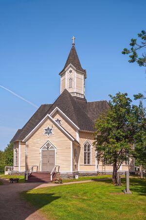A lutheran church in the Piippola village of the Siikalatva municipality in Finland