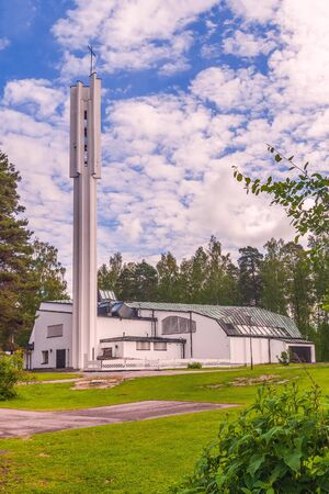 Church of the Three Crosses in the city of Imatra. Finland
