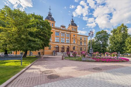 View of the city hall. City of Oulu. Finland
