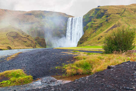 Skogafoss is one of the biggest waterfalls in Iceland. Iceland's Golden Circle. Southwestern Iceland