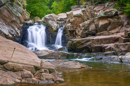 Scott's Run waterfall. Scott's Run Nature Preserve. Fairfax County. Virginia. USA