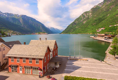 The town of Odda the innermost point of Hardangerfjord. Ullensvang municipality. Norway