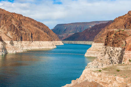 View of Lake Mead near Hoover Dam from the Arizona side. USA