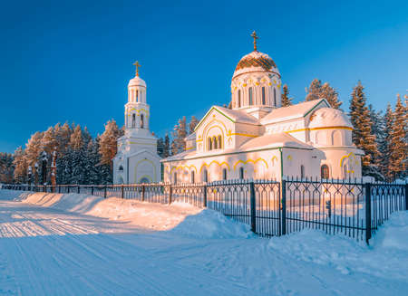 Church of the icon of Our Lady of Kazan in the village of Urdoma. Arkhangelsk Oblast. Russia