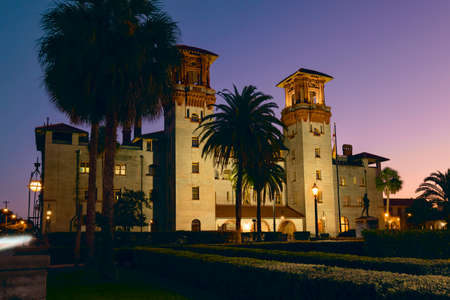St. Augustine. Florida. USA - 11.03.2020: Lightner Museum at sunset