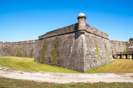 Castillo de San Marcos (St. Mark's Castle) in the city of St. Augustine. Florida. USA