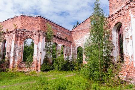 st petersburg: Russia, St. Petersburg, Priozersk, August 2016: Picturesque ruins