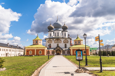 April 29, 2018, Russia Tikhvin Tikhvin Bogorodichny Assumption Monastery Banque d'images