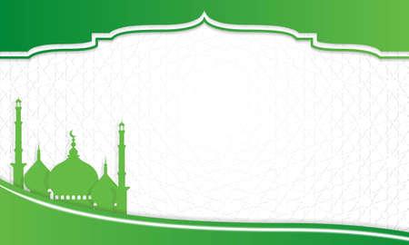 Islamic arabesque background design for islamic feast Vektorgrafik