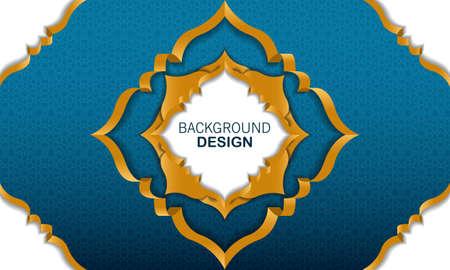 Islamic arabesque background design for islamic feast