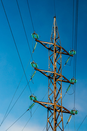 coldly: high-voltage tower
