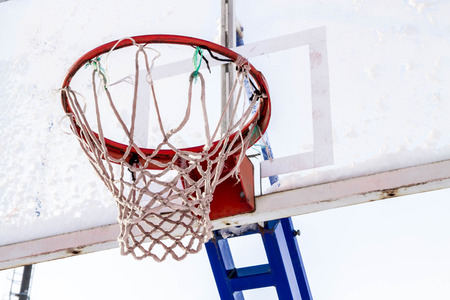 basketball net: basketball Hoop with backboard sports stadium Stock Photo