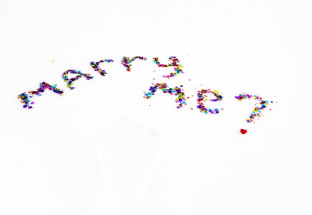 marry: The inscription on snow marry me
