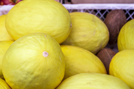 mouthwatering: Melon on the counter market