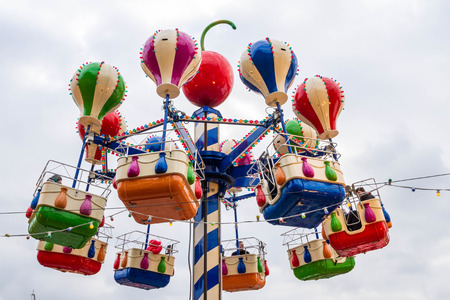 rides: Moscow, Russia, March 7, 2015. The rides at the fair on red square.