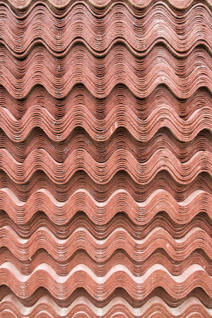 building material: Building material sheet Ondulina Brown Stock Photo
