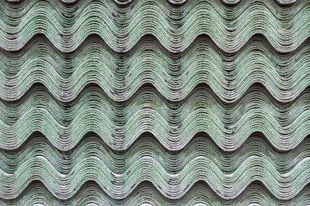 construction materials: Building material sheet Ondulina green