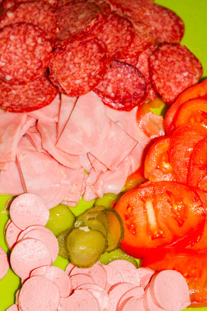 toppings: Pizza toppings Stock Photo