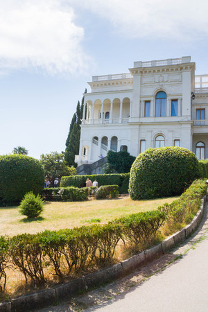 vorontsov: Yalta, Crimea, Russia, September 3, 2015. The area near Vorontsov Palace in Yalta Editorial