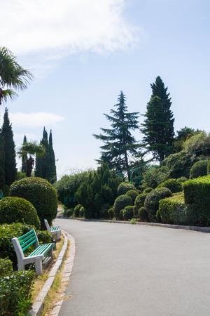 vorontsov: The area near Vorontsov Palace in Yalta Stock Photo