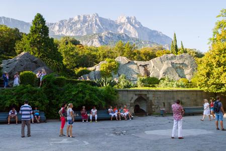 vorontsov: Yalta, Crimea, Russia, September 3, 2015. Vorontsov Palace in Yalta in Crimea in summer