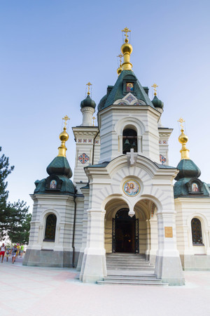 Yalta, Crimea, Russia, September 3, 2015. Foros Church in Yalta in Crimea in summer Editorial