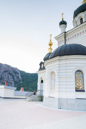 Yalta, Crimea, Russia, September 3, 2015. Foros Church in Yalta in Crimea in summer Editorial