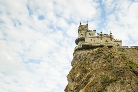Yalta, Crimea, Russia, on 8 June 2016. Castle swallows nest in Yalta in the Crimea.
