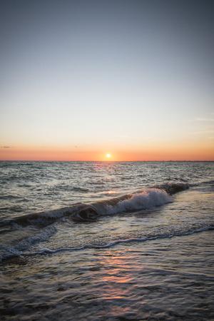 Beautiful sunset on the summer sea