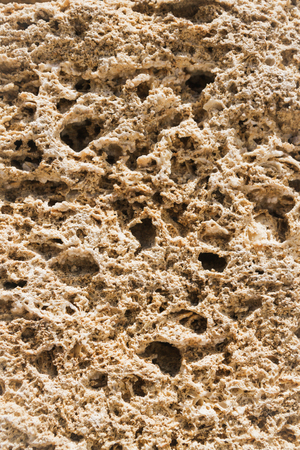 Natural material for the construction of coquina Stock Photo
