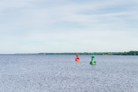 View of the Gulf of Finland in summer from the pier 写真素材
