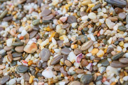 Sea stones on the seashore in the summer