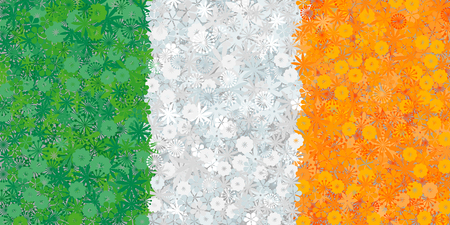 celts: Flag of Ireland with flowers